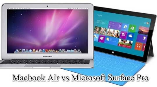 Macbook Air Vs Surface Pro