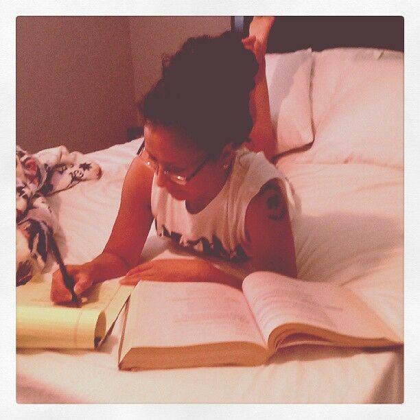 Studying hard :)